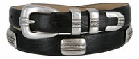 2811 Italian Calfskin Genuine Leather Designer Concho Belt