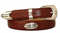 "2841 Italian Designer Leather Concho Belt - 1 1/8"" wide"