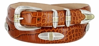 289 Feather - Italian Calfskin Leather Designer Belt