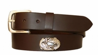 "2890 Two Fish Casual Full Grain Leather Belt - 1 1/4"" wide"