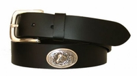 "2891 Horse Head Full Grain Leather Belt - 1 1/4"" wide"