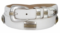 290 Men's Italian Calfskin Genuine Leather Designer Concho Belt