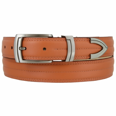 "2926 Center Stitched Leather Dress Belt - 1 1/8"" wide"
