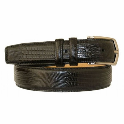 "2972 Italian Designer Leather Dress Belt - 1 1/4"" wide"