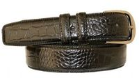"2986 Calfskin Embossed Leather Dress Belt - 1 1/4"" wide"