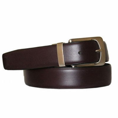 "2996 Reversible Leather Dress Belt - 1 1/8"" wide"