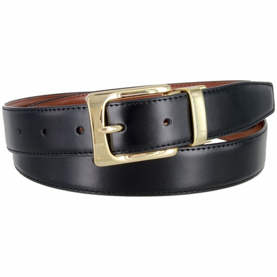 "2997 Reversible Leather Dress Belt - 1 1/8"" wide Available up to size 54"""