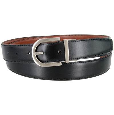 "2998 Reversible Leather Dress Belt - 1 1/8"" wide Available up to size 54"""