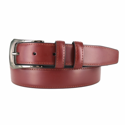 "3002 OFFICE DRESS BELT WITH DOUBLE LEATHER LOOPS 1 1/8"" WIDE - Available in size 50"""