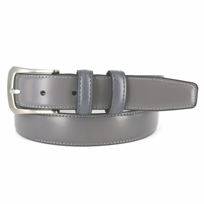"3003 OFFICE DRESS BELT WITH DOUBLE LEATHER LOOPS 1 1/8"" WIDE - Available in size 50"""