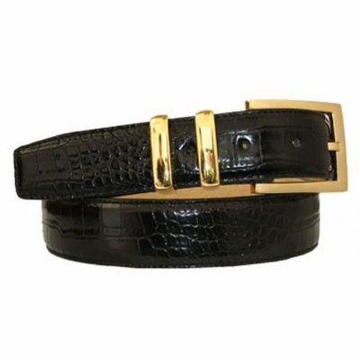 "3007 Calfskin Embossed Leather Dress Belt - 1 1/4"" wide"