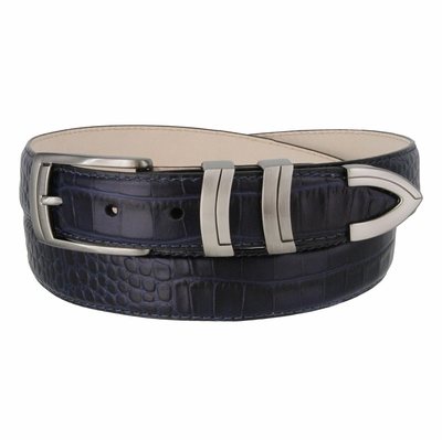 "3028 Italian Calfskin Leather Dress Belt - 1 1/8"" Wide"