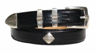 "3031 Diamond Golf Italian Calfskin Leather Concho Belt - 1 1/8"" Wide"