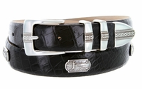 "3032 Golf Men's Leather Conchos Belt - 1 1/8"" wide"