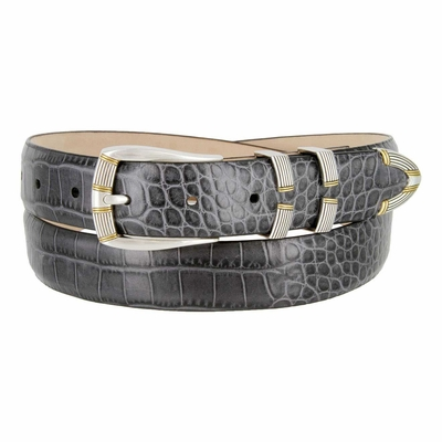 "3033 Italian Calfskin Designer Dress Belt - 1 1/8"" Wide"