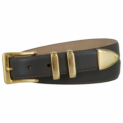 "3048 Italian Calfskin Leather Dress Belt 1 1/8"" wide"
