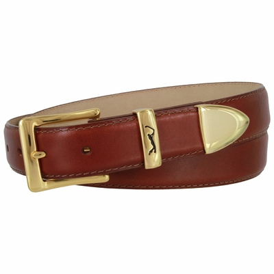 "3049 Italian Calfskin Golf Leather Dress Belt 1 1/8"" wide"