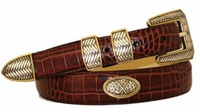 3051 Golf Italian Calfskin Leather Belt