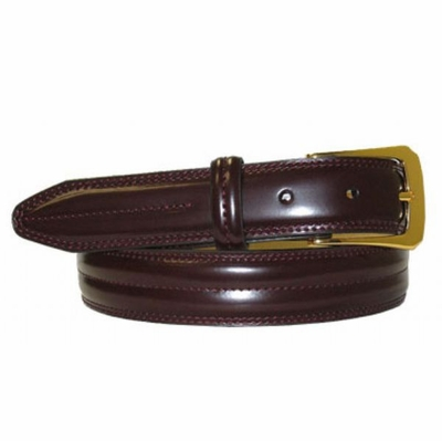 "2930 Center Stitched Dress Belt - 1 1/8"" wide"