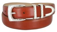 "30MM-1107SP Men's Genuine Smooth Leather Casual Dress Belt 1-1/8"" (30mm) - Tan"