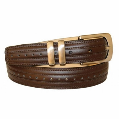 "3139 Perforated Leather Dress Belt - 1 1/8"" wide"