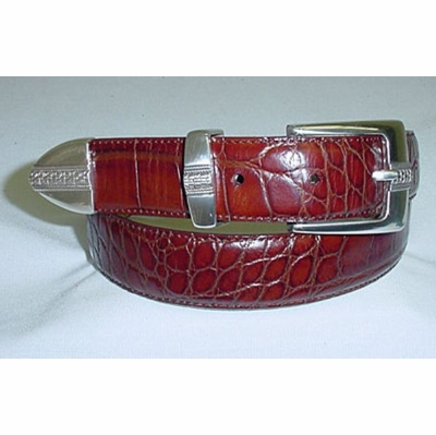 "314 Calfskin Leather Dress Belt - 1 1/8"" wide"