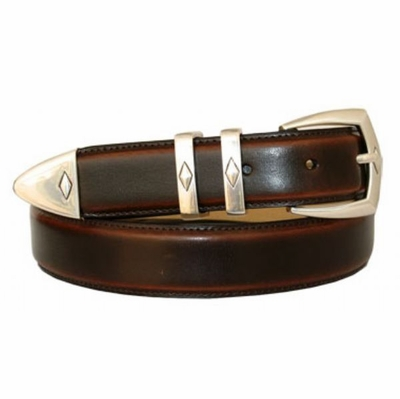 "3147 Italian Calfskin Leather Dress Belt - 1 1/8"" wide"