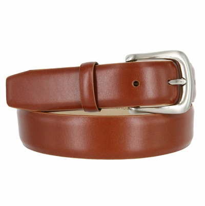 "3175 Italian Calfskin Leather Dress Belt - 1 1/4"" wide"