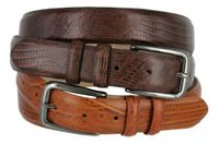 "3201 Gun Buckle Genuine Italian Calfskin Leather Dress Belt 1 1/8"" Wide"