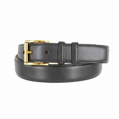 "3213 Gold Roller Calfskin Leather Dress Belt - 1 1/4"" wide"
