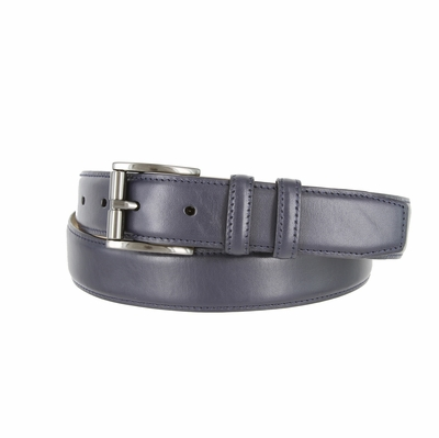 "3215 Men's Roller Calfskin Leather Dress Belt - 1 1/4"" wide NAVY"