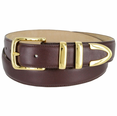"3221  Men's Genuine Smooth Casual Dress Leather Belt - 1 1/4"" Wide"