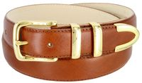 "3221 Men's Genuine Smooth Casual Dress Leather Belt - Tan 1 1/4"" Wide"