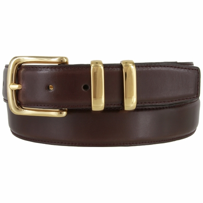 "3255 Genuine Italian Smooth Leather Office Dress Belt 1-1/4"" wide"