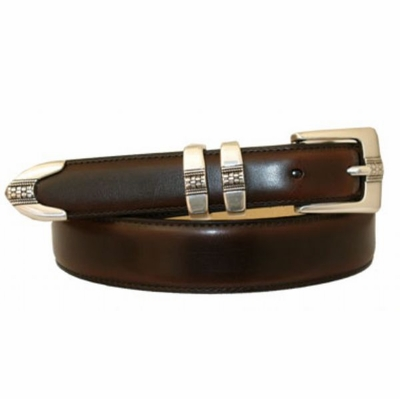 3263 Italian Designer Calfskin Hand Dyed Leather Belt