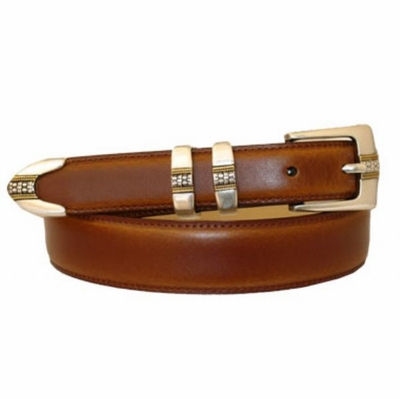 3264 Italian Designer Calfskin Hand Dyed Leather Belt