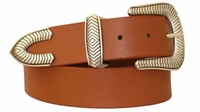 "3278 Western Full Grain Leather Belt - 1 1/2"" wide"