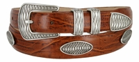 3309 Men's Italian Leather Concho Belt