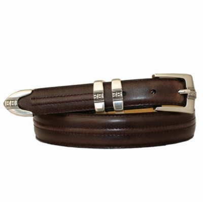 3398 Center Stitched Leather Dress Belt