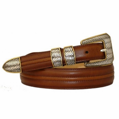 3401 Center Stitched Leather Dress Belt