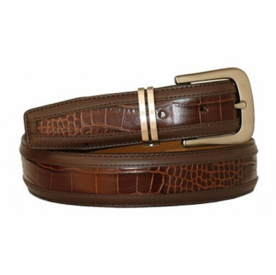 3419 Men's Leather Dress Belt - 1 1/8""