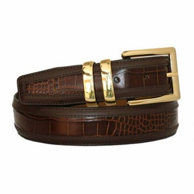 "3423 Men's Leather Dress Belt - 1 3/8"" wide"