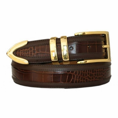 "3428  Men's Dress Leather Belt - 1 3/8"" wide"