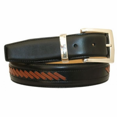 "3453 Leather Dress Belt - 1 3/8"" wide"