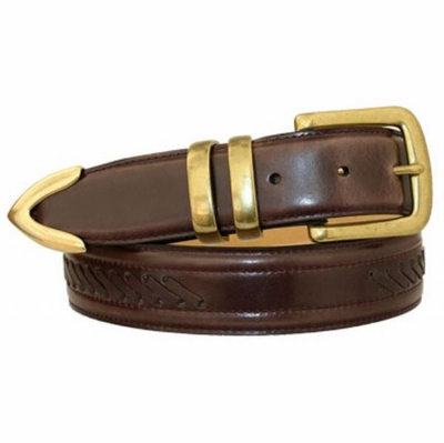 "3461 Lacing Dress Belt - 1 3/8"" wide CORDOVAN"