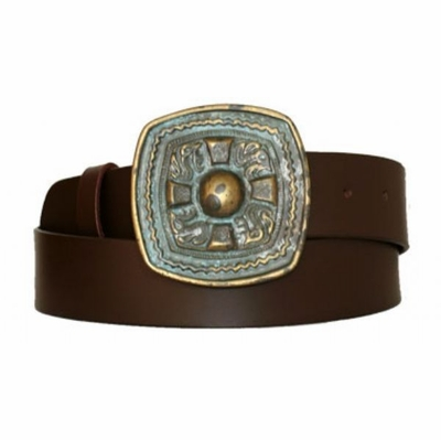 "3472 Causal Full Grain Leather Belt - 1 1/2"" wide - Available in size 60"""