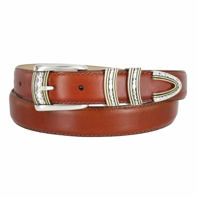 "3473 Golf Smooth Calfskin Dress Leather Belt - 1 1/8"" Wide"
