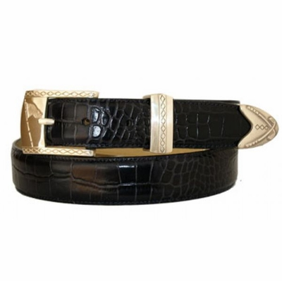 "3476 Golf Leather Dress Belt - 1 1/8"" wide"