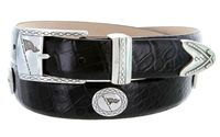 "3477 Golf Italian Calfskin Leather Dress Belt - 1 1/8"" wide"