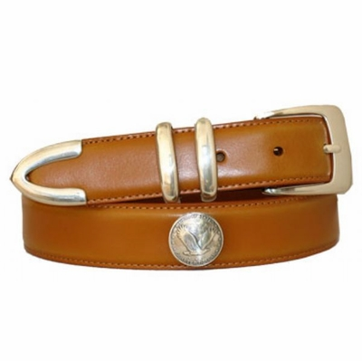 3486 Eagle Coin Concho Belt - 1 1/8 wide